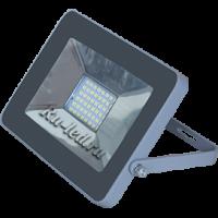 Ecola Projector  LED  30,0W 220V 2800K IP65 Светодиодный Прожектор тонкий Серебристо-серый 188x132x17