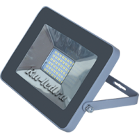 Ecola Projector  LED  50,0W 220V 6000K IP65 Светодиодный Прожектор тонкий Серебристо-серый 221x154x20