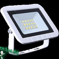 Ecola Projector  LED  10,0W 220V 2800K IP65 Светодиодный Прожектор тонкий Белый 100x80x26
