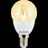 Ecola globe   LED Premium  4,0W G45 220V E14 золотистый 320° прозрачный шар искристая точка (керамика) 86х45