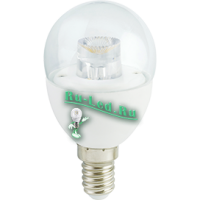 Ecola globe   LED Premium  7,0W G45 220V  E14 2700K прозрачный шар с линзой (композит) 80x45