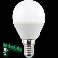 Ecola globe   LED  8,0W G45  220V E14 6000K шар (композит) 78x45