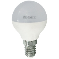 Ecola globe   LED  5,4W G45  220V E14 2700K шар (композит) 77x45