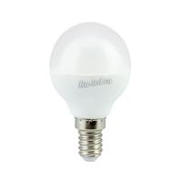 Ecola globe   LED  8,0W G45  220V E14 2700K шар (композит) 78x45