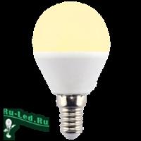 Ecola globe   LED Premium  8,0W G45  220V E14 золотистый шар (композит) 78x45