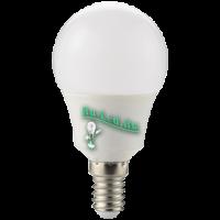Ecola globe   LED  8,2W G50 220V E14 4000K шар 270° (композит) 95x50