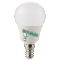 Ecola globe   LED Premium  8,2W G50 220V E14 4000K шар 270° (композит) 95x50