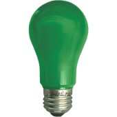 Ecola classic   LED color  8,0W A55 220V E27 Green Зеленая 360° (композит) 108x55