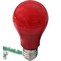 Ecola classic   LED color 12,0W A60 220V E27 Red Красная 360° (композит) 110x60