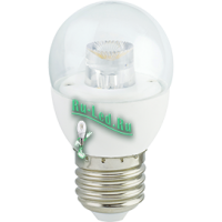 Ecola globe   LED Premium  7,0W G45 220V  E27 2700K прозрачный шар с линзой (композит) 80x45