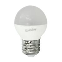 Ecola globe   LED  8,0W G45  220V E27 4000K шар (композит) 78x45