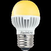 Ecola globe   LED  5,4W G45 220V E27 золотистый шар (ребристый алюм. радиатор) 82х45