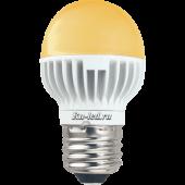 Ecola globe   LED Premium  7,0W G45 220V E27 золотистый шар (ребристый алюм. радиатор) 78x45