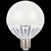 Ecola globe   LED Premium 20,0W G95 220V E27 4000K шар (ребристый алюм. радиатор) 130x95