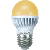 Ecola globe   LED  7,0W G45 220V E27 золотистый шар (ребристый алюм. радиатор) 82х45
