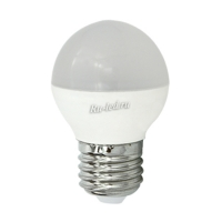 Ecola globe   LED Premium  8,0W G45  220V E27 4000K шар (композит) 75x45