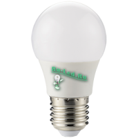 Ecola globe   LED  8,2W G50 220V E27 2700K шар 270° (композит) 95x50