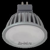 Ecola MR16   LED Premium  7,0W 220V GU5.3 6000K матовое стекло (ребристый алюм. радиатор) 51x50