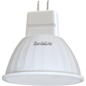 Ecola MR16   LED  4,2W 220V GU5.3 2800K прозрачное стекло (композит) 42x50