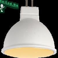 Ecola MR16   LED  7,0W  220V GU5.3 золотистая матовое стекло (композит) 48x50