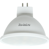 Ecola MR16   LED  5,4W 220V GU5.3  2800K матовое стекло (композит) 48x50