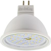 Ecola MR16   LED  5,4W 220V GU5.3  2800K прозрачное стекло (композит) 48x50