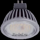 Ecola MR16   LED Premium  7,0W 220V GU5.3 2800K прозрачное стекло (ребристый алюм. радиатор) 51x50