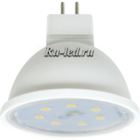 Ecola MR16   LED Premium  8,0W  220V GU5.3 2800K прозрачное стекло (композит) 48x50