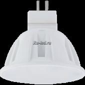 Ecola Light MR16   LED  4,0W 220V GU5.3 M2 2800K матовое стекло 46x50