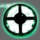 Ecola LED strip PRO  7,2W/m 12V IP65 10mm 30Led/m Green зеленая светодиодная лента на катушке 5м.