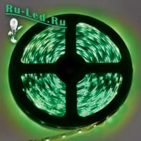 Ecola LED strip 220V STD  4,8W/m IP68 12x7 60Led/m Green зеленая лента  10м.