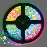 Ecola LED strip 220V STD  7,2W/m IP68 14x7 30Led/m RGB разноцветная лента  10м.