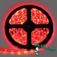 Ecola LED strip 220V STD  4,8W/m IP68 12x7 60Led/m Red красная лента  10м.