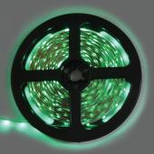 Ecola LED strip STD  4,8W/m 12V IP20   8mm  60Led/m Green зеленая светодиодная лента на катушке 5м.