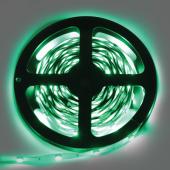 Ecola LED strip STD  7,2W/m 12V IP20  10mm 30Led/m Green зеленая светодиодная лента на катушке 5м.