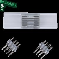 Ecola LED strip 220V connector комплект для упрощенного соединения лента-лента 4-х конт для ленты IP68 RGB 14x7