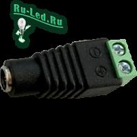 Ecola LED strip connector переходник с разъема штырькового (мама)  на колодку под винт уп. 1 шт.