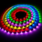 Светодиодная лента 5050 на 220В, мощность 14,4 Вт. 60 диодов на 1м. ЦВЕТ: RGB (многоцветная)
