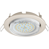 Ecola GX53 H4 светильник встраив. без рефл.  Жемчуг 38x106 (к+)