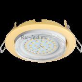 Ecola GX53 H4 светильник встраив. без рефл.  Сатин золото 38x106 (к+)