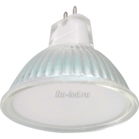 Ecola Light MR16   LED  5,0W 220V GU5.3 6500K матовое стекло (композит) 48x50