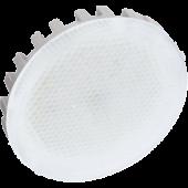 Ecola GX53   LED Premium  6,0W Tablet 220V 4200K матовое стекло (ребристый алюм. радиатор) 27x75