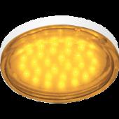 Ecola GX53   LED color  4,4W Tablet 220V Yellow Желтый (насыщенный цвет) прозрачное стекло 27x74