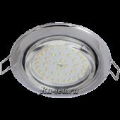 Ecola Light GX53 H4 LED светильник Хром встр.без рефл. с лампой GX53 LED 4,2W 4200К прозр.стекло 38x106
