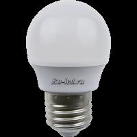 Ecola globe   LED Premium  7,0W G45  220V E27 6500K шар (композит) 75x45