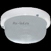 Ecola Light GX53 LED ДПП 03-7-101 светильник Круг накладной 1*GX53 матовое стекло IP65 белый 185х185х85