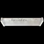 Ecola Light GX53 LED ДПО12-2х8-002 светильник  прямоугольный накладной 5*GX53 матовый белый 638х165х70