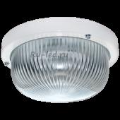 Ecola Light GX53 LED ДПП 03-7-001 светильник Круг накладной 1*GX53 прозр. стекло IP65 белый 185х185х85