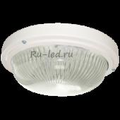 Ecola Light GX53 LED ДПП 03-18-003 светильник  Круг накладной 3*GX53 прозр стекло IP65 белый 280х280х90