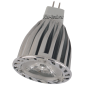 Ecola Light MR16 LED  6,0W 220V GU5.3 2800K 38° (ребристый алюм. радиатор) 66х50